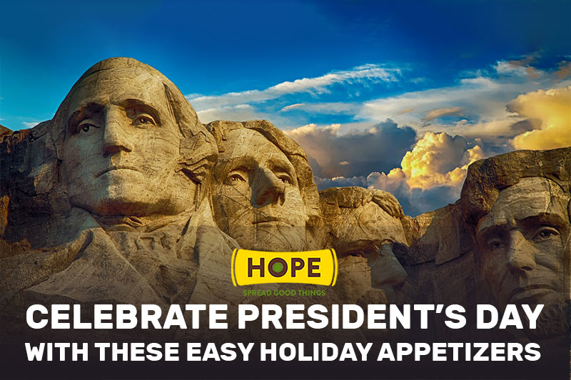 Easy holiday appetizers for President's Day