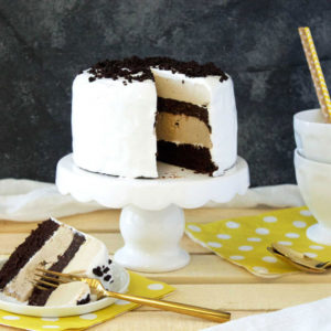 Read more about the article Dark Chocolate Snickerdoodle Ice Cream Cake
