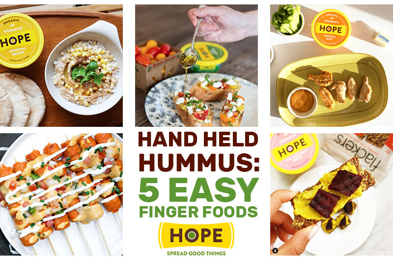 Hand Held Hummus! 5 Easy Finger Food Ideas
